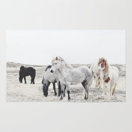 WILD AND FREE  1 - HORSES OF ICELAND Rug
