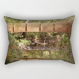 Bridge Over Brook Rectangular Pillow