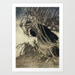 """Calling Shapes"" by Arthur Rackham Art Print"