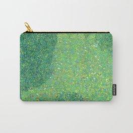 """Gustav Klimt """"Landscape Garden (Meadow in Flower)"""" Carry-All Pouch"""