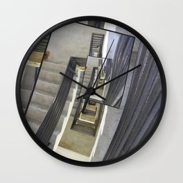 Well of Stairs Wall Clock