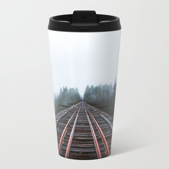 Abandoned Railroad Vance Creek Bridge - Olympic National Park, Washington Metal Travel Mug