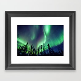 Northern Lights in Yellowknife Framed Art Print