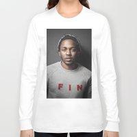 kendrick lamar Long Sleeve T-shirts featuring Kendrick Lamar by Colin Douglas Gray