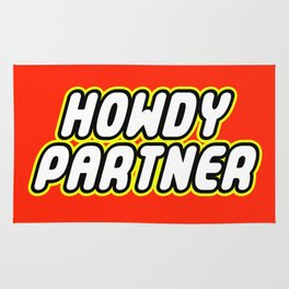 HOWDY PARTNER in Brick Font Logo Design by Chillee Wilson Rug