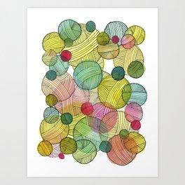 Yarn Stash Art Print