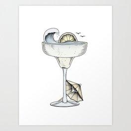 Summer Cocktail Art Print