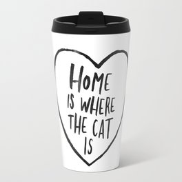 Home Is Where The Cat Is Travel Mug