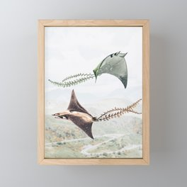 Flying Manta Rays Framed Mini Art Print