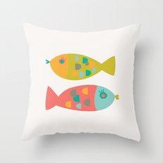 Four Fish Throw Pillow