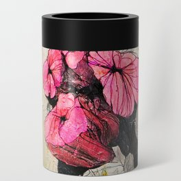 Pink wood stumps Can Cooler