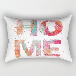 Home grunge artistic Typography Rectangular Pillow