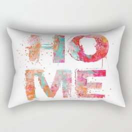 Home grunge artistic Typography Rectangular Pillow