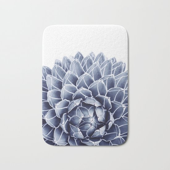 Succulent splendour - chambray Bath Mat