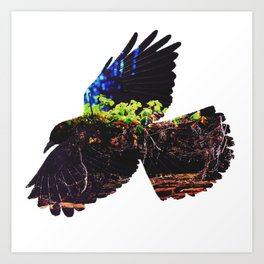 Forest On Ravens Wings Art Print
