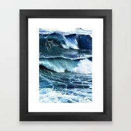 Deep Blue Waves Framed Art Print