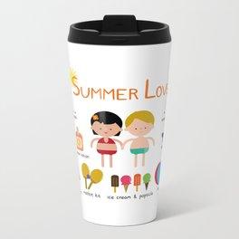 Summer Love Metal Travel Mug