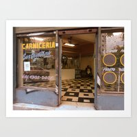 The Lonely Carniceria, Montserrat, Buenos Aires Art Print