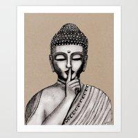 buddha Art Prints featuring BUDDHA by Vanya