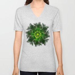 The Majesty Palm Light Flower Unisex V-Neck