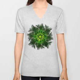 The Majesty Palm Light Flower Unisex V-Neck