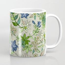 Alpine Flowers - Gentian, Edelweiss Coffee Mug
