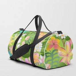 Tropical Floral Plumeria Paradise Duffle Bag