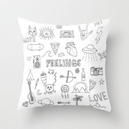 stuff & things Throw Pillow