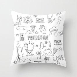 stuff & things Throw Pillow