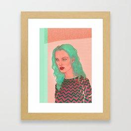 New Girl Framed Art Print