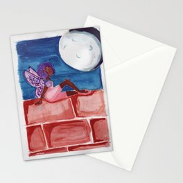 Fairy in the Moonlight Stationery Cards