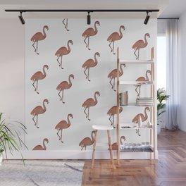 Flamingo Watercolor Wall Mural