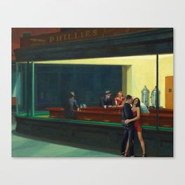 devon and jesse + hopper Canvas Print