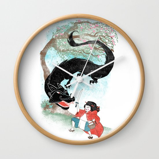 Little Red-San Wall Clock
