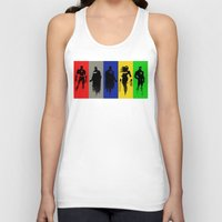 justice league Tank Tops featuring Justice Silhouettes by iankingart