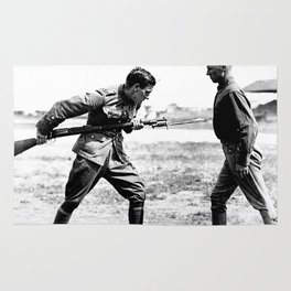 Bayonet Fighting Instruction Rug