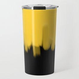 Yellow and Black Travel Mug