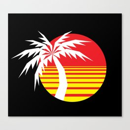 Red Sun Palm Canvas Print