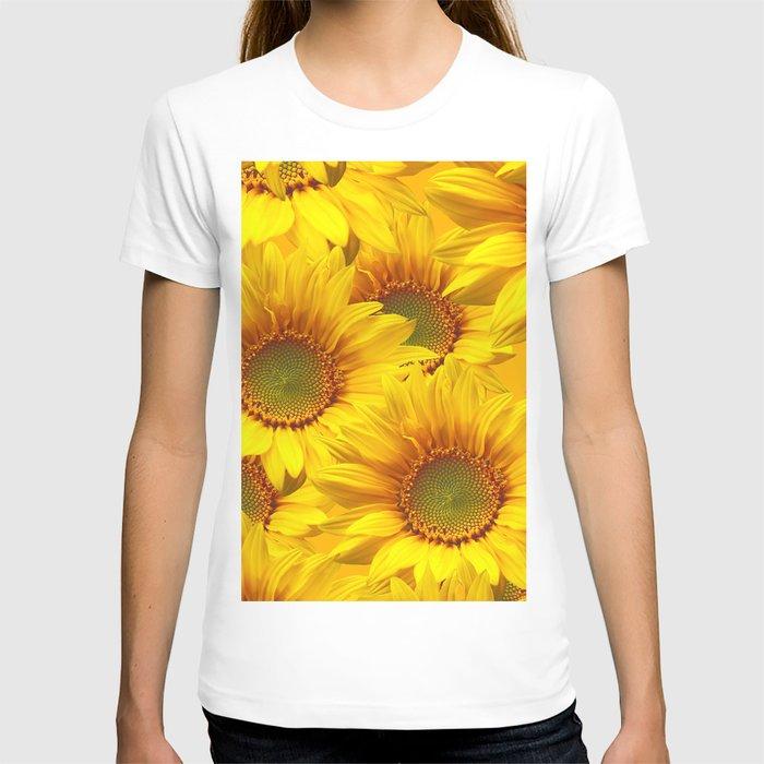 Yellow Mellow Sunflower Bouquet #decor #society6 #buyart T-shirt