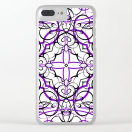 VIOLET SACRED GEOMETRY Clear iPhone Case