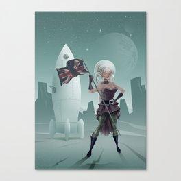 Steampunk Spacegirl Canvas Print