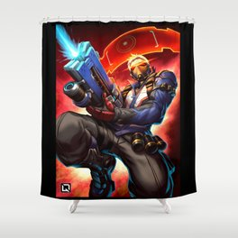 over Shower Curtain