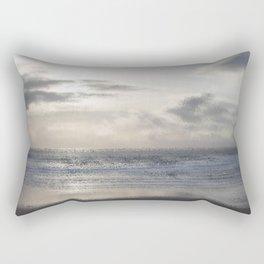 Silver Scene ~ Ocean Ripple Effect Rectangular Pillow