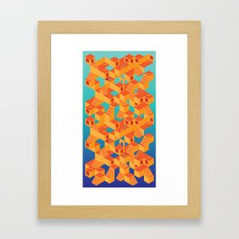 Escher cube Framed Art Print