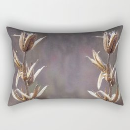 Still life- dried winter plant Rectangular Pillow