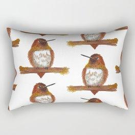 Rufous Hummingbird Rectangular Pillow