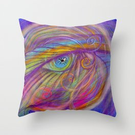Guardian Angel with Feather Throw Pillow
