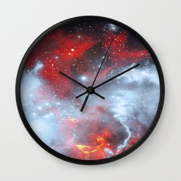 Fire to the Stars Wall Clock