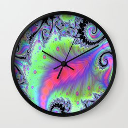 Tendrils In Pastels Wall Clock