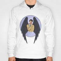 castiel Hoodies featuring Castiel by White Magician